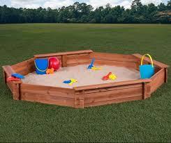 Badger Basket Covered Convertible Cedar Sandbox With Two Bench Seats Creativecedardesigns 6 6 U0027 Octagon Sandbox U0026 Reviews Wayfair