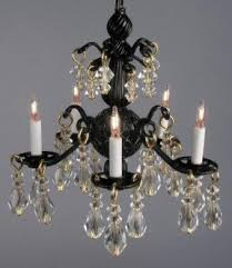 Small Black Chandelier Mini Black Chandeliers With Crystals Foter