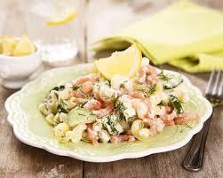 cuisine az com recette salade de coquillettes au concombre et saumon facile rapide