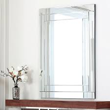 Frameless Bathroom Mirror Large Bathrooms Design Wall Mounted Mirror Unframed Mirrors In No Frame