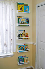 bedroom cool bookshelves for kids features white wall book shelf