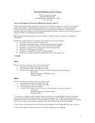 Agreement Letter Template Between Two Parties Computer Support Service Contract Sample Computer Support Today