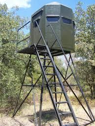 Deer Ground Blind Plans Texas Deer Stands Box Blinds Towers Feeders