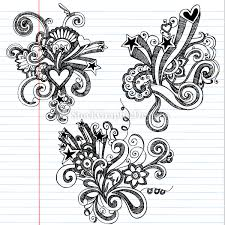 Flower Designs On Paper Cool Easy Patterns To Draw On Paper