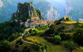 Beautiful Mountain Houses Man Made Village Wallpaper Landskap Pinterest Mountain