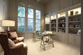 Contemporary Home Office Desks Architecture Modern Office Desk With Rattan Chairs Also Built In