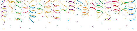 party streamers background with party streamers and confetti illustration royalty