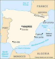 madrid spain map here is a map of spain look for madrid that s where i ll be