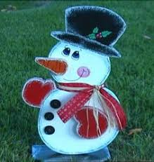 Snowman Lawn Decorations Pictures Of Crafted Wooden Painted Christmas Decorations