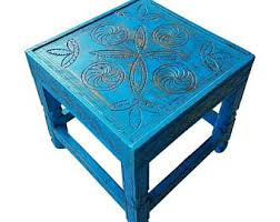Turquoise Side Table Turquoise Side Table Etsy