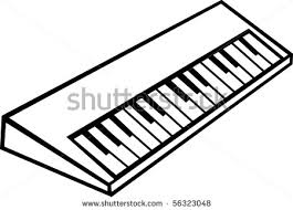 keyboard clipart drawn pencil and in color keyboard clipart drawn
