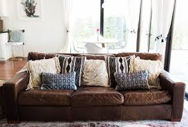 Best Foam For Sofa Cushions Ideas Brown Leather Sofa With Decorative Loloi Pillows In Harmony