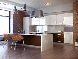 cuisine blanc laqué et bois cuisine blanc laque et bois alliance est plan de travail laquee