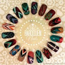 nail art wheel u2013 doodling with acrylic paint baroquen nails