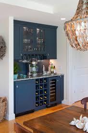diy home bar design idea with l shaped counter also glass shelves