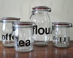glass storage jar etsy