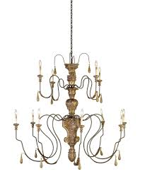 Currey And Company Lighting Currey And Company 9314 Mansion 60 Inch Wide 12 Light Chandelier