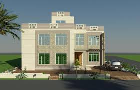 Front Elevation Design by 3d Front Elevation Studio Project Oman Arabian Beautiful Villa