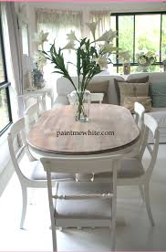 White Painted Oak Furniture Oak Table Makeover Oak Table Chair Makeover And Kitchens