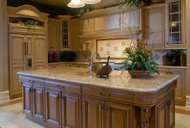 giallo ornamental granite for warm kitchen design