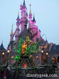 sleeping beauty castle and halloween brambles disneylandparis