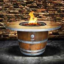 wine barrel fire table wine barrel fire pit enthusiast vin de flame wine country