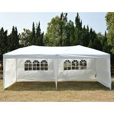 Patio Gazebo 10 X 10 by 10 U0026 039 X 20 Outdoor Patio Gazebo Ez Pop Up Party Tent Wedding