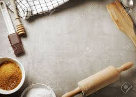 ustensil cuisine top view of kitchen table and baking utensil cooking background
