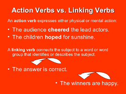 action helping and linking verbs complements