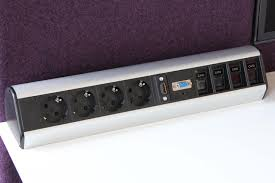 Office Desk Power Sockets Office Power Cl Table Integrated Systems From Götessons