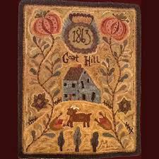 primitive rug hooking not forgotten farms hooked rug patterns