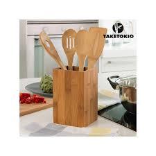 cuisine en bambou ustensiles de cuisine bambou taketokio 5 pieces