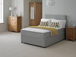 4ft bed new grey quilted memory divan bed sprung memory foam mattress 3ft