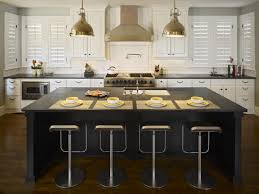 White Kitchen Island With Stainless Steel Top by Black Kitchen Islands Pictures Ideas U0026 Tips From Hgtv Hgtv