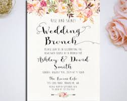 after wedding brunch invitation post wedding brunch etsy