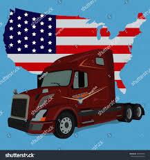american flag truck truck american flag vector illustration stock vector 736540792