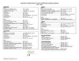academic calendar 2018 2019 miller school of medicine admissions