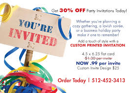 party invitations limited time only