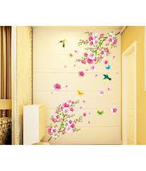 stickerskart flowers trees pvc wall stickers buy stickerskart stickerskart flowers trees pvc wall stickers