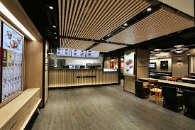 Yoshinoya Fast Food Restaurant By AS Design Service Hong Kong - Fast food interior design ideas