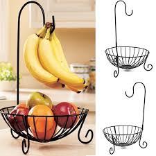 metal fruit basket practical tableware metal fruit basket detachable banana hanger