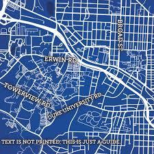 Berkeley Campus Map Duke University Campus Map Art City Prints