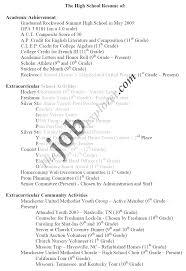 Basic Resume Template For High Students Graduate Resume Sle Inspiration Printable Resume