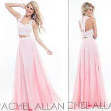 sweet 16 dresses 2 two pieces prom gowns light pink chiffon