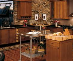 Rustic Hickory Kitchen Cabinets Homecrest Cabinetry - Hickory kitchen cabinets pictures