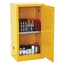 Yellow Flammable Storage Cabinet Sandusky Flammable Safety Cabinet 12 Gal Yellow Sc12f Zoro