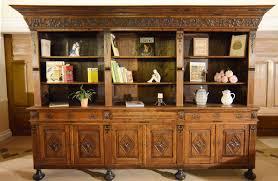 Schreibtisch Mit Regalaufsatz Bücherschrank Regal Regalschrank Neorenaissance Um 1850 Eiche