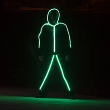 Led Light Halloween Costume Led Stickman Costume Glowy Zoey