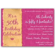 pink free 50th birthday party invitations templates birthday