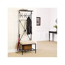 coat rack entry way hall tree stand hook bench closet shoe